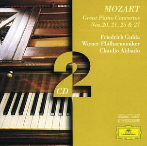 Concerti per pianoforte n.20, n.21, n.25, n.27 - CD Audio di Wolfgang Amadeus Mozart,Friedrich Gulda,Claudio Abbado,Wiener Philharmoniker