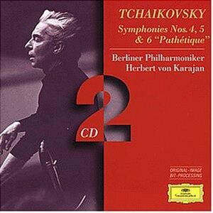 Sinfonie n.4, n.5, n.6 - CD Audio di Pyotr Il'yich Tchaikovsky,Herbert Von Karajan,Berliner Philharmoniker