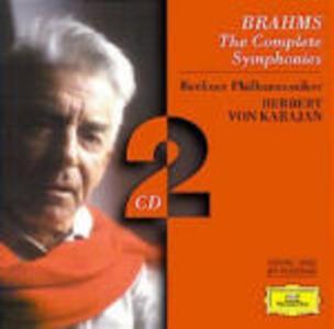 Sinfonie complete - CD Audio di Johannes Brahms,Herbert Von Karajan,Berliner Philharmoniker
