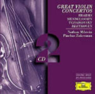 Concerti per violino - CD Audio di Johannes Brahms,Felix Mendelssohn-Bartholdy,Nathan Milstein,Pinchas Zukerman