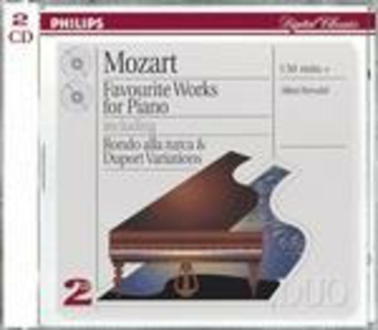 CD Favourite Works for Piano di Wolfgang Amadeus Mozart