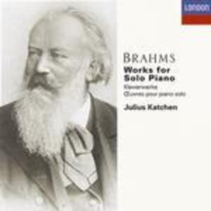 CD Integrale delle opere per pianoforte di Johannes Brahms