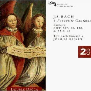 CD Cantate BWV147, BWV80, BWV140, BWV8, BWV51, BWV78 di Johann Sebastian Bach