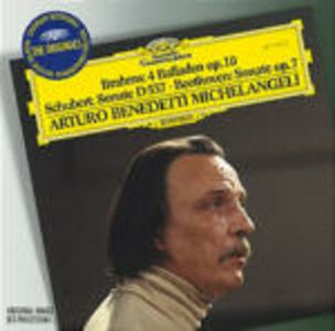CD Ballata per pianoforte op.10 / Sonata per pianoforte D537 / Sonata per pianoforte n.4 Ludwig van Beethoven , Johannes Brahms , Franz Schubert