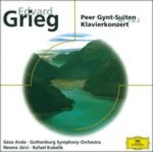Peer Gynt Suite n.1, n.2 - Concerto per pianoforte - CD Audio di Edvard Grieg