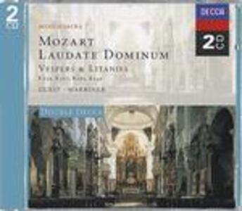 Laudate Dominum - Vespri e Litanie - CD Audio di Wolfgang Amadeus Mozart,Neville Marriner,St. John's College Choir