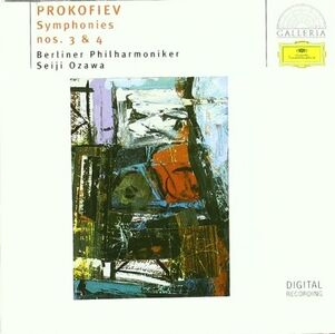 CD Sinfonie n.3, n.4 di Sergei Sergeevic Prokofiev