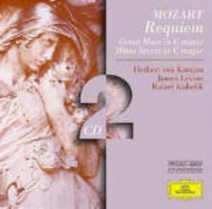 Requiem K626 - Messe K427, K220 - CD Audio di Wolfgang Amadeus Mozart,Herbert Von Karajan,James Levine,Rafael Kubelik,Berliner Philharmoniker,Wiener Philharmoniker,Orchestra Sinfonica della Radio Bavarese