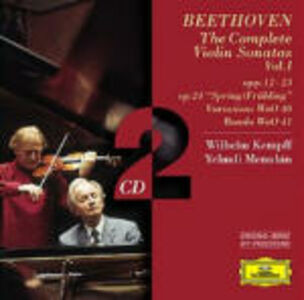 CD Sonate per pianoforte e violino complete vol.1 di Ludwig van Beethoven