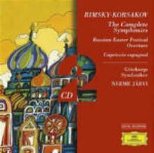 Sinfonie n.1, n.2 - Capriccio spagnolo - La grande Pasqua russa - CD Audio di Nikolai Rimsky-Korsakov,Neeme Järvi,Göteborg Symphony Orchestra