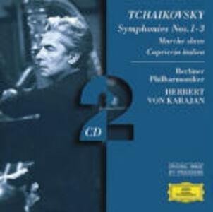 CD Sinfonie n.1, n.2, n.3 - Marcia slava - Capriccio italiano di Pyotr Il'yich Tchaikovsky