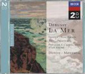 La mer - Images - Notturni - Jeux - Printemps - CD Audio di Claude Debussy,Charles Dutoit,Orchestra Sinfonica di Montreal