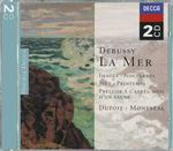 CD La mer - Images - Notturni - Jeux - Printemps di Claude Debussy