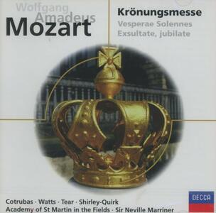 Messa dell'Incoronazione - CD Audio di Wolfgang Amadeus Mozart,Neville Marriner,Academy of St. Martin in the Fields