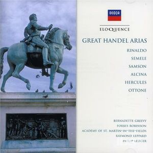 CD Great Arias di Georg Friedrich Händel