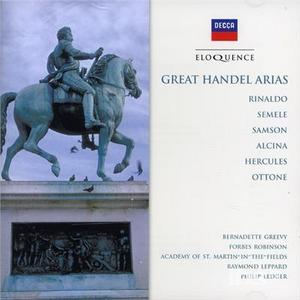 CD Great Arias di Georg Friedrich Händel
