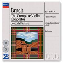 Concerti per violino completi - Fantasia scozzese - CD Audio di Max Bruch,Salvatore Accardo,Kurt Masur,Gewandhaus Orchester Lipsia