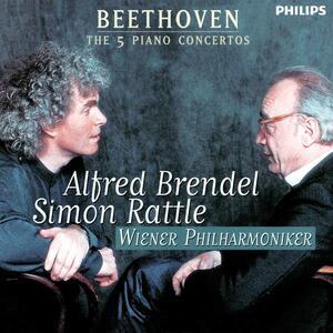 Concerti per pianoforte n.1, n.2, n.3, n.4, n.5 - CD Audio di Ludwig van Beethoven,Alfred Brendel,Simon Rattle,Wiener Philharmoniker
