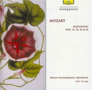 CD Sinfonie N.31, N.32, N.33, N.34 di Wolfgang Amadeus Mozart