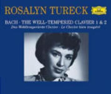 Il clavicembalo ben temperato (Das Wohltemperierte Clavier) - CD Audio di Johann Sebastian Bach,Rosalyn Tureck