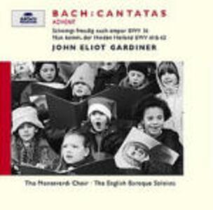 Cantate Dell'avvento Bwv36, Bwv61, Bwv62 - CD Audio di Johann Sebastian Bach,John Eliot Gardiner,English Baroque Soloists