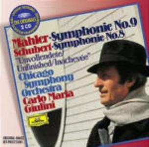 CD Sinfonia n.9 / Sinfonia n.8 Gustav Mahler , Franz Schubert