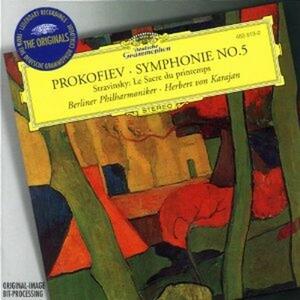 Sinfonia n.5 / La sagra della primavera (Le Sacre du Printemps) - CD Audio di Sergej Sergeevic Prokofiev,Igor Stravinsky,Herbert Von Karajan,Berliner Philharmoniker