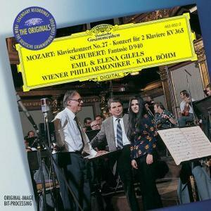 Concerto per pianoforte n.27 - Concerto per due pianoforti K365 / Fantasia D940 - CD Audio di Wolfgang Amadeus Mozart,Franz Schubert,Karl Böhm,Emil Gilels,Wiener Philharmoniker