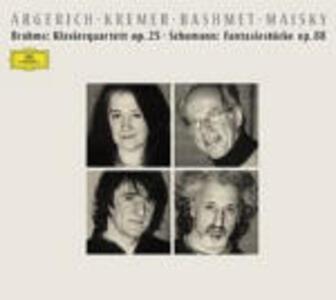 Quartetto in Sol minore op.25 / Fantasiestücke op.88 - CD Audio di Johannes Brahms,Robert Schumann,Martha Argerich,Yuri Bashmet,Gidon Kremer,Mischa Maisky