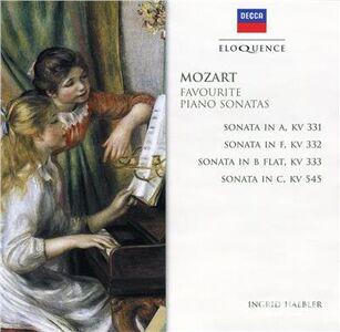 CD Favourite Piano Sonatas di Wolfgang Amadeus Mozart