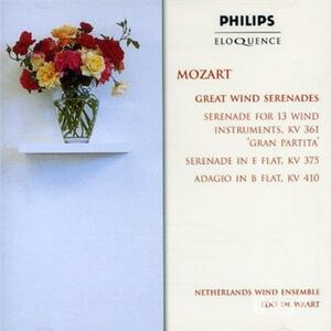 CD Great Wind Serenades di Wolfgang Amadeus Mozart