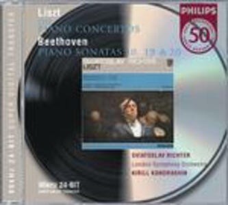 Concerti per pianoforte n.1, n.2 / Sonate per pianoforte n.10, n.19, n.20 - CD Audio di Ludwig van Beethoven,Franz Liszt,Sviatoslav Richter,London Symphony Orchestra,Kyril Kondrashin