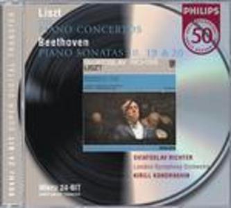 CD Concerti per pianoforte n.1, n.2 / Sonate per pianoforte n.10, n.19, n.20 Ludwig van Beethoven , Franz Liszt