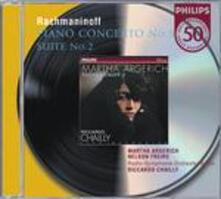 Concerto per pianoforte n.3 - Suite n.2 - CD Audio di Sergej Vasilevich Rachmaninov,Martha Argerich,Riccardo Chailly,Radio Symphony Orchestra Berlino