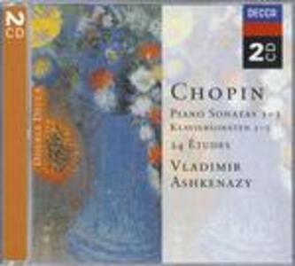 Sonate per pianoforte - Studi - CD Audio di Fryderyk Franciszek Chopin,Vladimir Ashkenazy