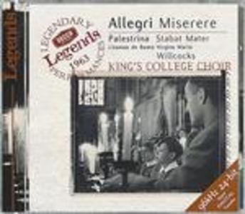 CD Miserere / Stabat Mater Giovanni Pierluigi da Palestrina , Gregorio Allegri