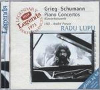 Concerto per pianoforte / Concerto per pianoforte - CD Audio di Edvard Grieg,Robert Schumann,André Previn,Radu Lupu,London Symphony Orchestra