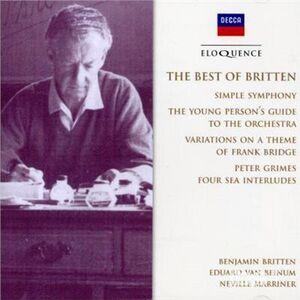 CD Best of Britten di Benjamin Britten