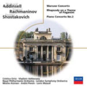 CD Concerto di Varsavia / Concerto per pianoforte n.2 / Concerto per pianoforte n.2 / Concerto per pianoforte Sergei Vasilevich Rachmaninov , Alexander Nikolayevich Scriabin , Dmitri Shostakovich , Richard Addinsell