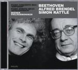 Concerto per pianoforte n.5 - Sonata per pianoforte n.23 - CD Audio di Ludwig van Beethoven,Alfred Brendel,Simon Rattle