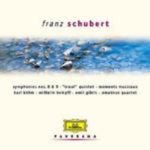 """Sinfonie n.8, n.9 - Quintetto con pianoforte """"La trota"""" - Momenti musicali - CD Audio di Franz Schubert"""