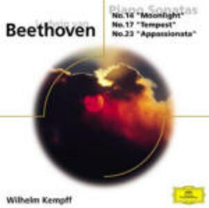 Sonate per pianoforte n.14, n.17, n.23 - CD Audio di Ludwig van Beethoven,Wilhelm Kempff