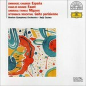 Foto Cover di Chabrier-Gounod-Thomas-Rosenthal-Offenbach, CD di Seiji Ozawa,Boston Symphony Orchestra, prodotto da Deutsche Grammophon
