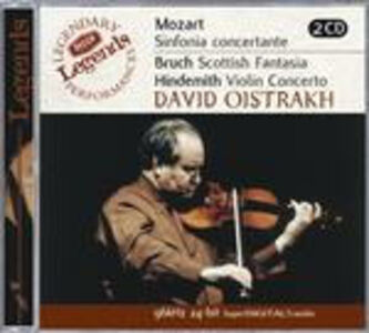CD Sinfonia concertante K364 / Fantasia scozzese / Concerto per violino Paul Hindemith , Wolfgang Amadeus Mozart , Max Bruch