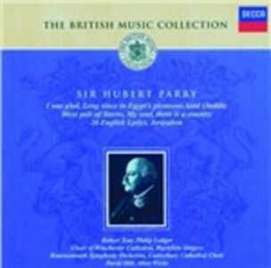 CD The British Music Collection di Hubert Parry