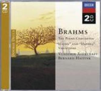 CD Concerti per pianoforte - Variazioni su un tema di Haydn - Variazioni su un tema di Händel di Johannes Brahms