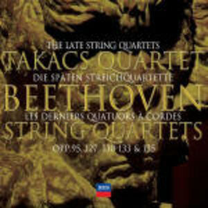 Foto Cover di Quartetti per archi op.95, op.130, op.131, op.132, op.133, op.135, CD di Ludwig van Beethoven,Takacs Quartet, prodotto da Decca