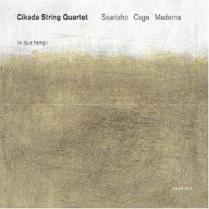 CD In due tempi / Nymphéa / Quartetto per archi in 4 parti Bruno Maderna , John Cage , Kaija Saariaho