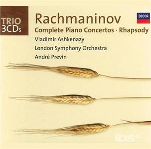 CD Concerti per pianoforte completi - Rapsodia su un tema di Paganini - Variazioni su un tema di Corelli - Sonata n.2 di Sergei Vasilevich Rachmaninov