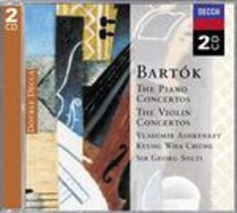 CD Concerti per pianoforte n.1, n.2, n.3 - Concerti per violino n.1, n.2 di Bela Bartok